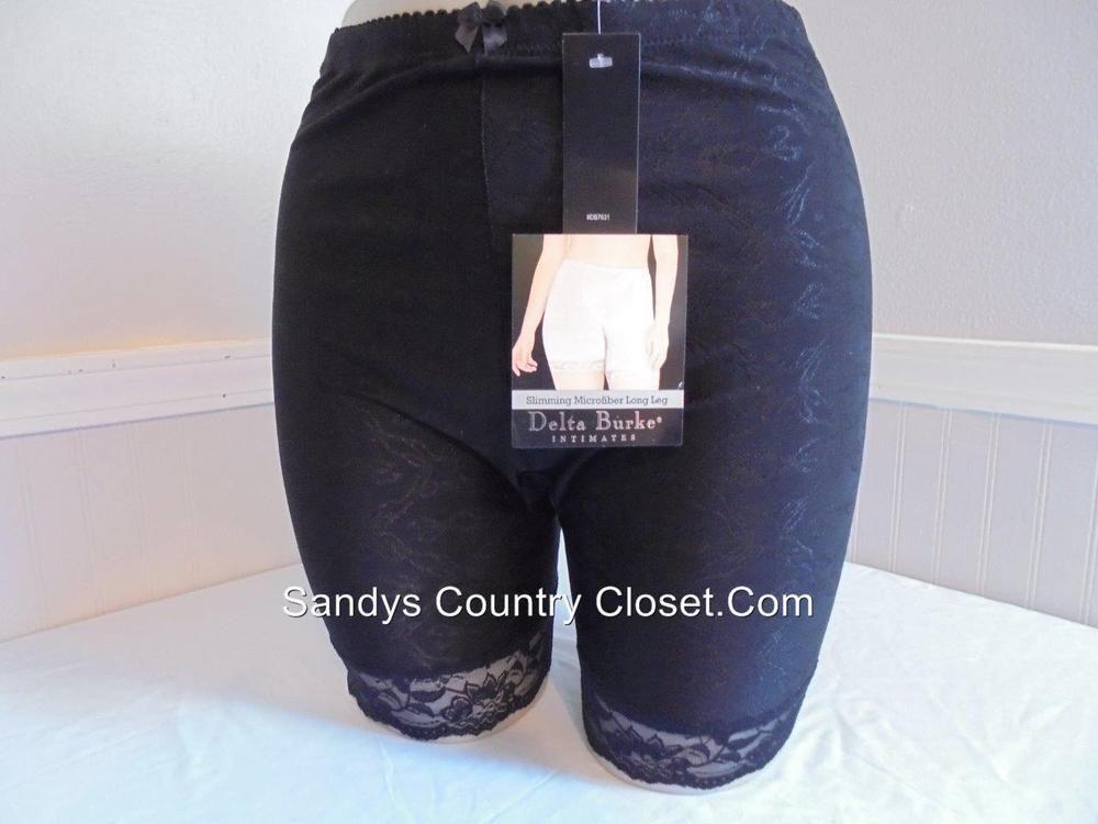 Delta Burke Plus Size  Floral Jacquard Long Leg Girdle Style 7625 Size 9-2X #DeltaBurke #Briefs