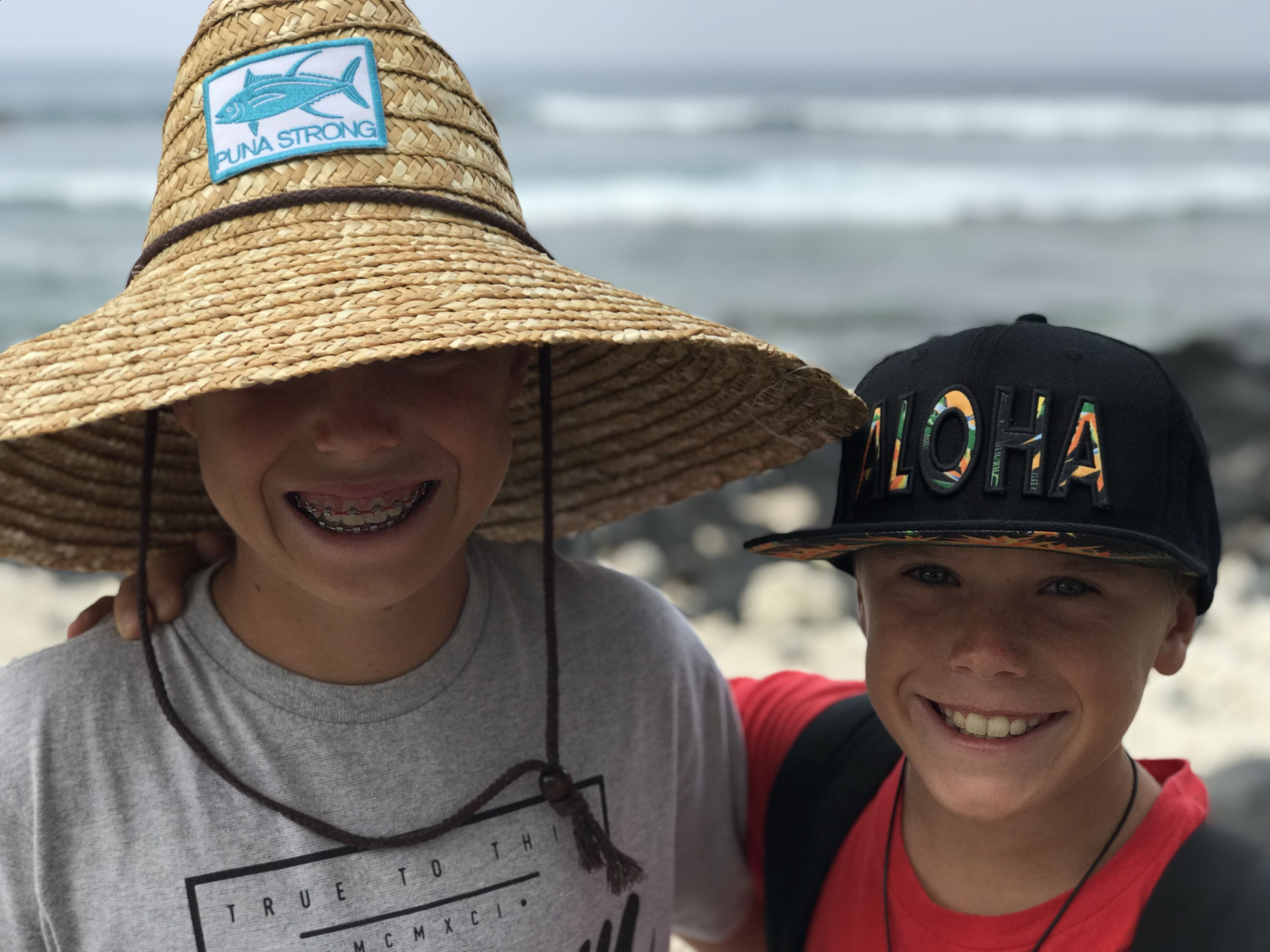 66fc4689e3500 Our Puna Strong Sundot Marine Patch Hat at Kohanaiki Beach.