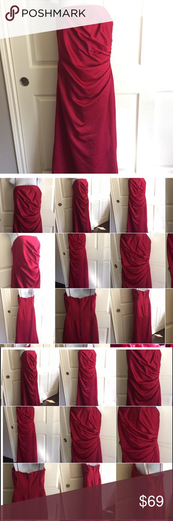 Jordan wedding prom red long dress large