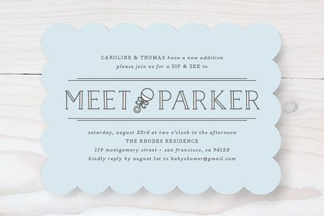 Meet + Greet | Baby shower invitations design, Sip and see ...