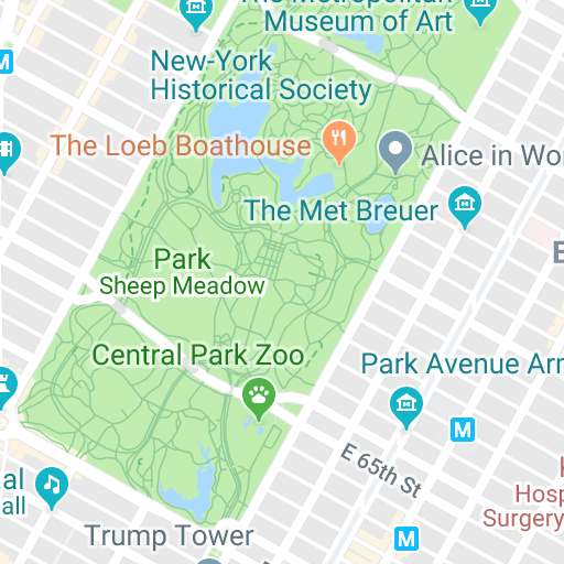 Interactive Central Park Map - The Official Website of Central Park on