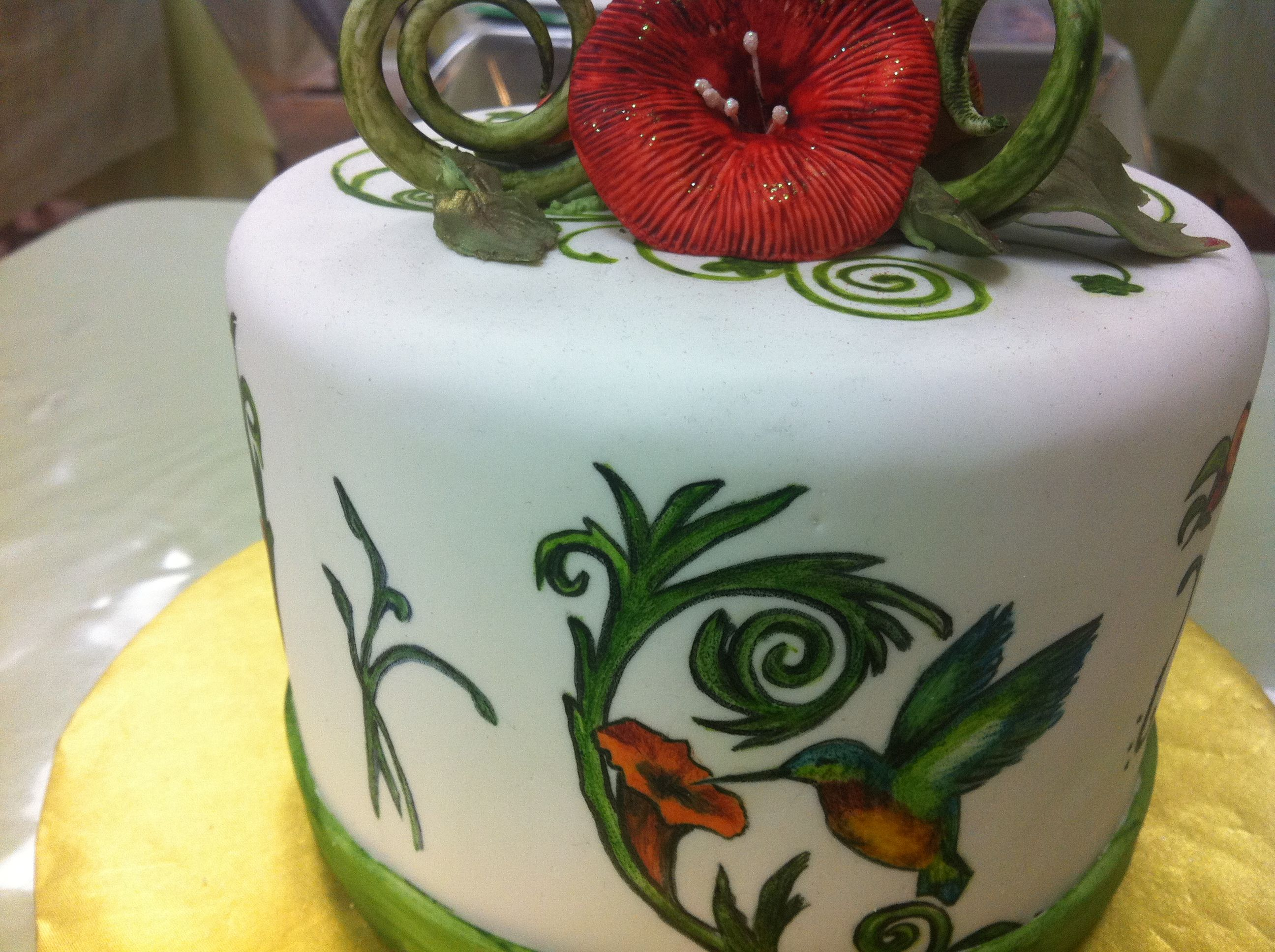 Cake Decoration New : Painting on Cake Fondant New Cake Decorating Class, Cake ...