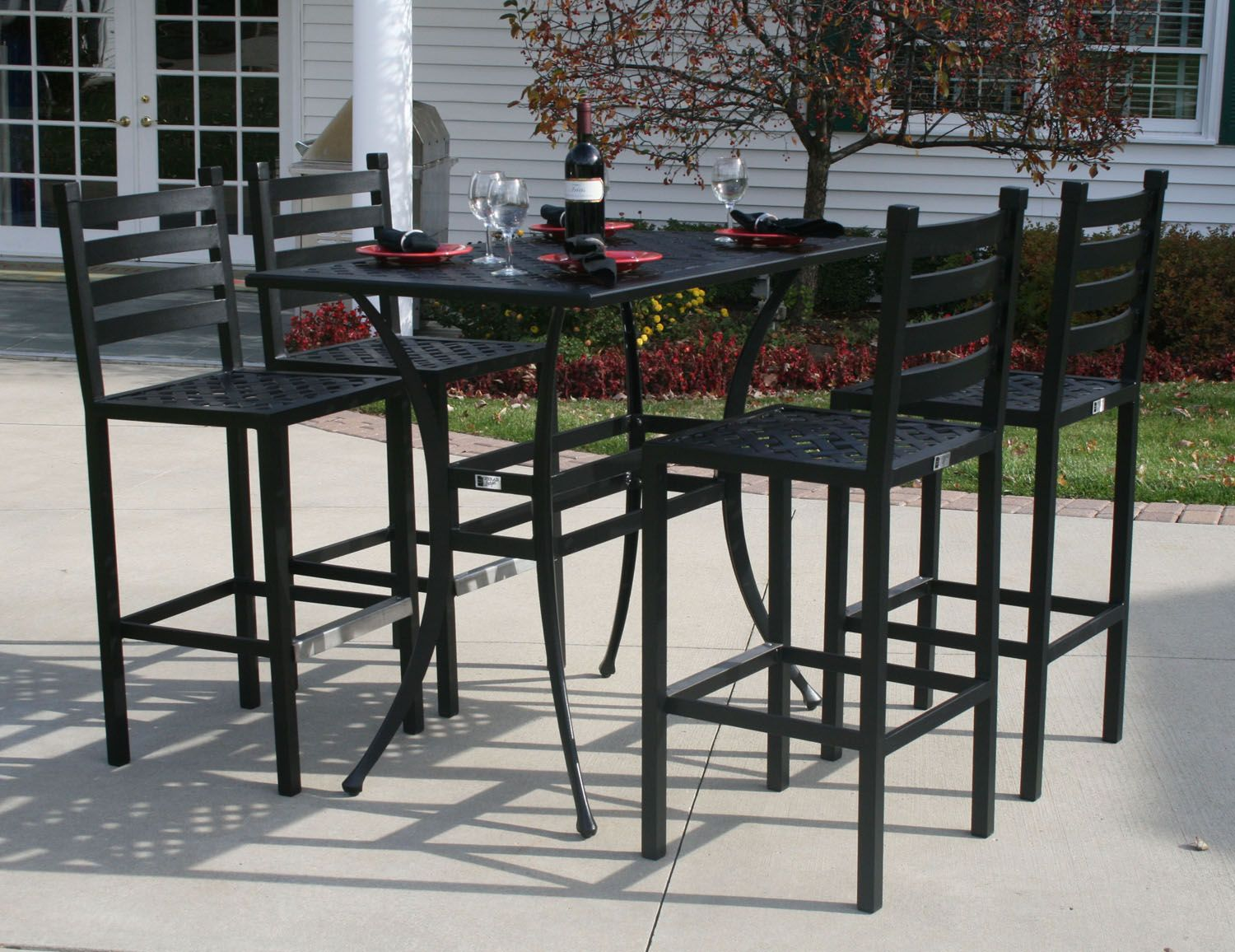Bar Height Outdoor Chairs In 2020 Cast Aluminum Patio Furniture