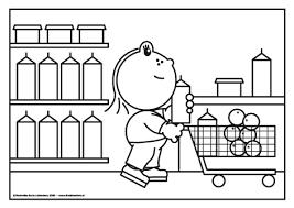 kleurplaat supermarkt zoeken kleurplaten