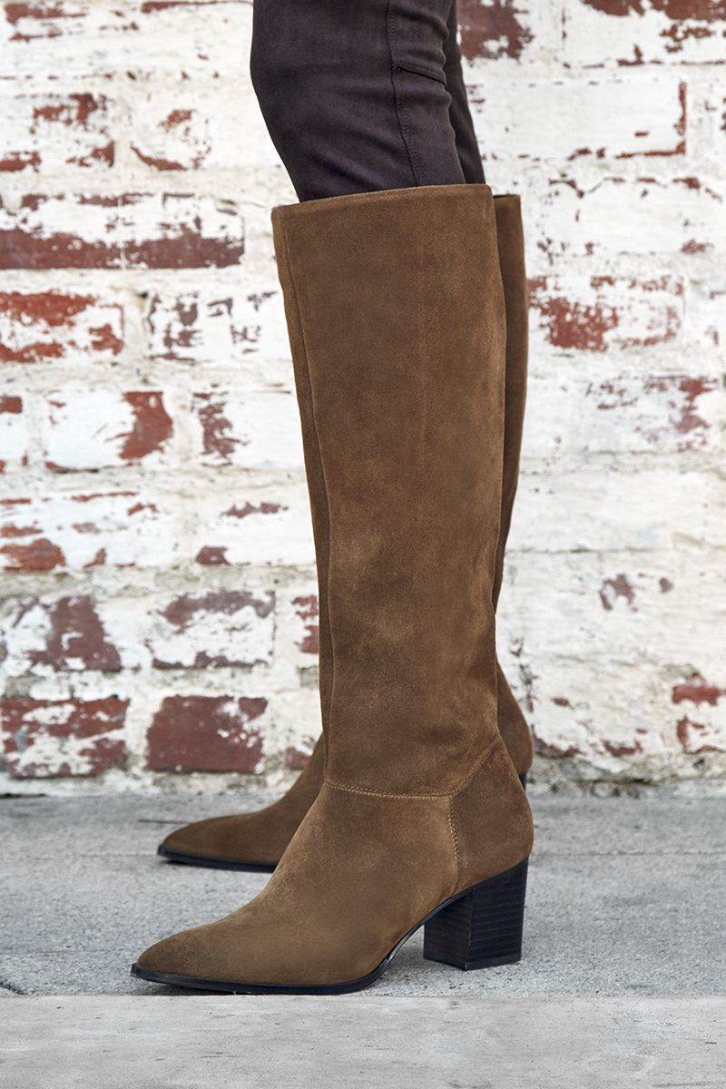 ebcc7ca6ea8 The Danilynn boot features a sophisticated stacked heel and pointed toe.  This style pairs perfectly with everything in your fall wardrobe.