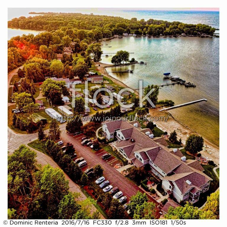 Door County Wisconsin, Sand Bay Resort #flock #doorcounty #drone