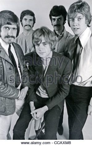 MOODY BLUES  UK pop group in August 1968. Photo Tony Gale. See Description below for names - Stock Photo