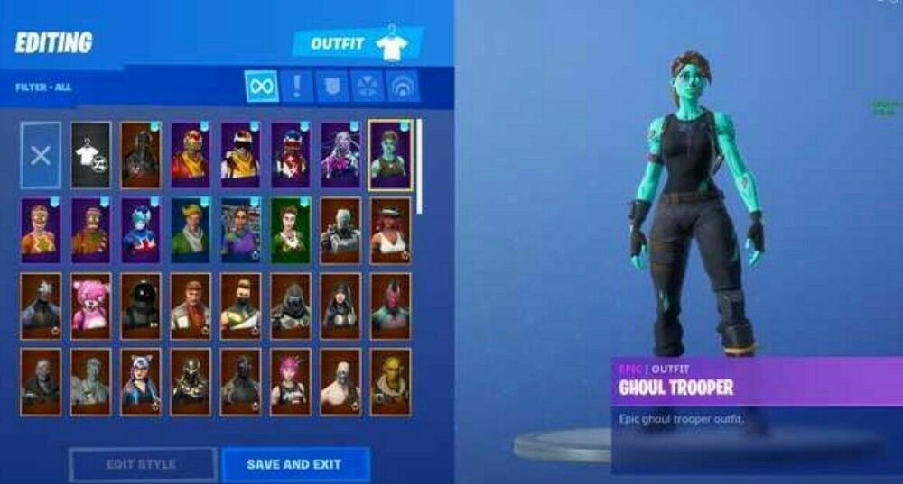 SELLING MY PERSONAL FORTNITE ACCOUNT WITH GHOUL TROOPER AND