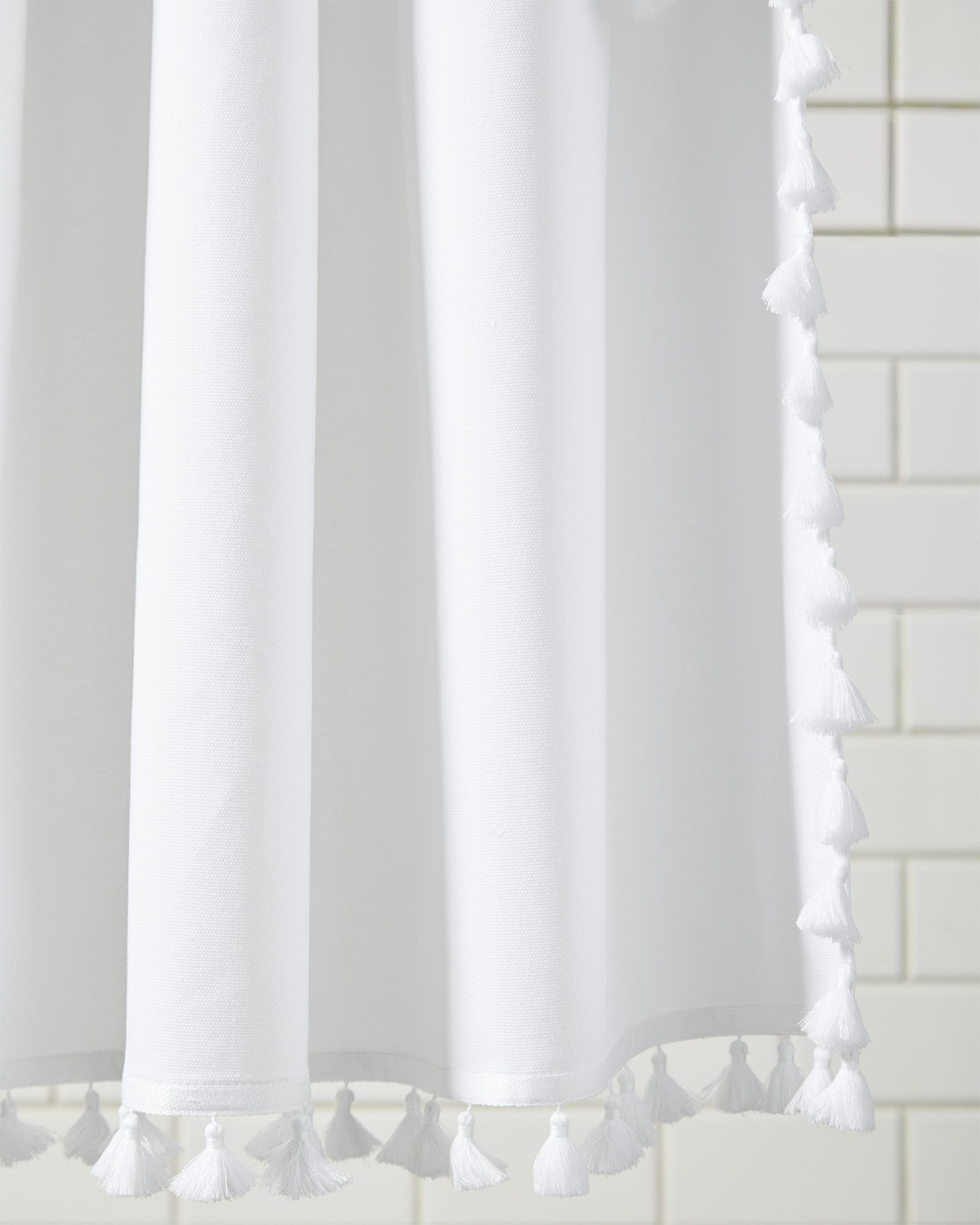 French Tassel Shower Curtain Unique Shower Curtain Traditional Bathroom Curtains