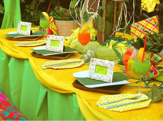 17 Best Images About Jamaican Themed Party On Pinterest: How To Decorate Tropical Tablescapes