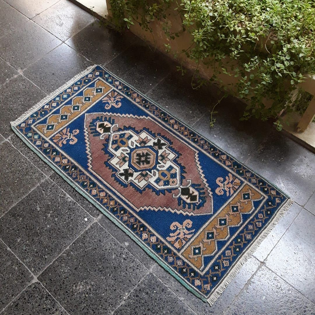 19x4ft Vintage Small decoration rug  It was listed in my shop