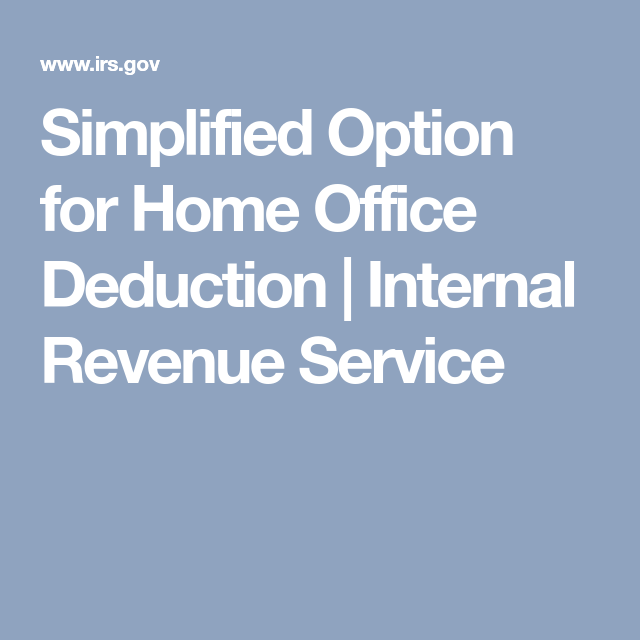Simplified Option For Home Office Deduction
