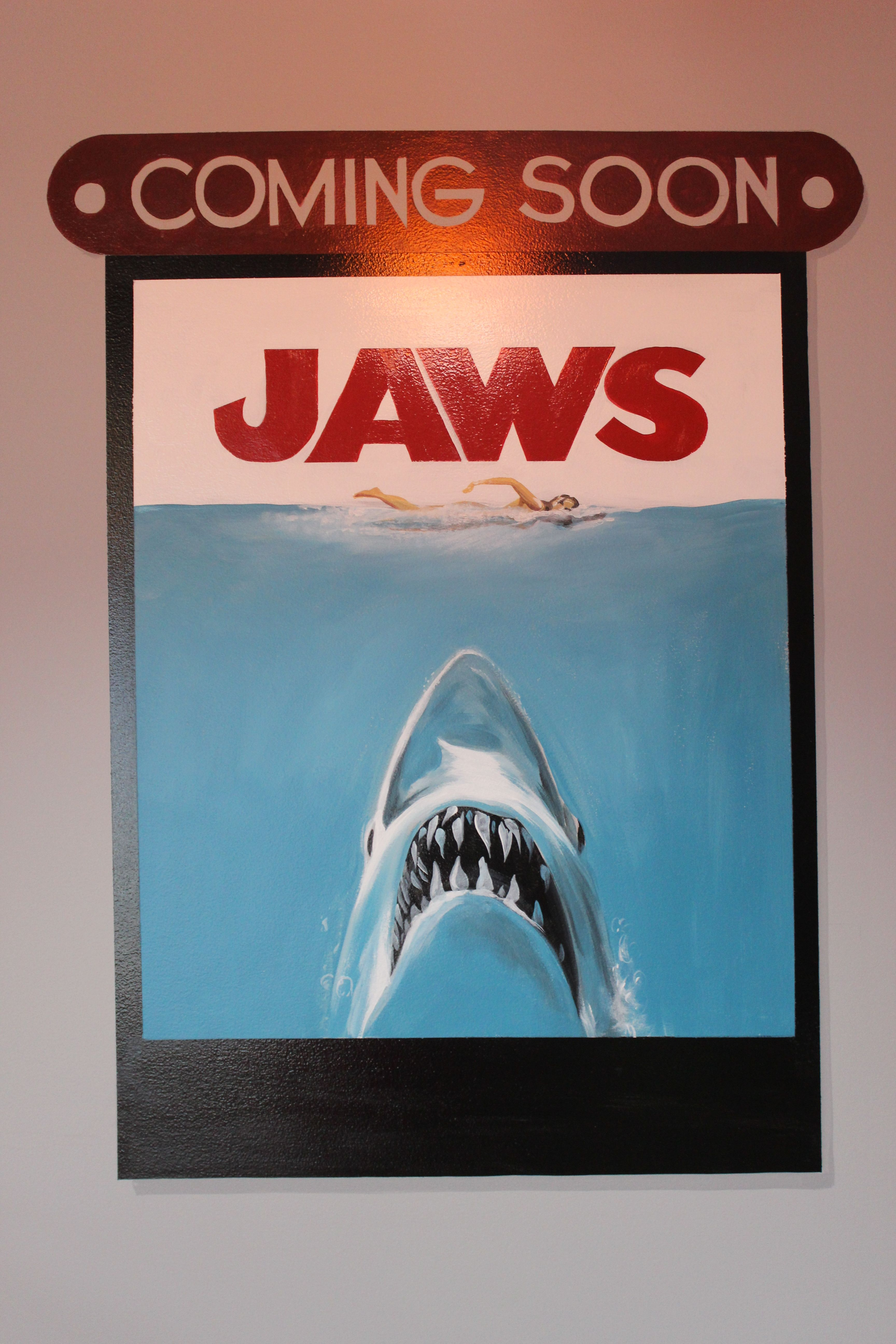 Jaws Mural Art Mural Broadway Shows Broadway Show Signs