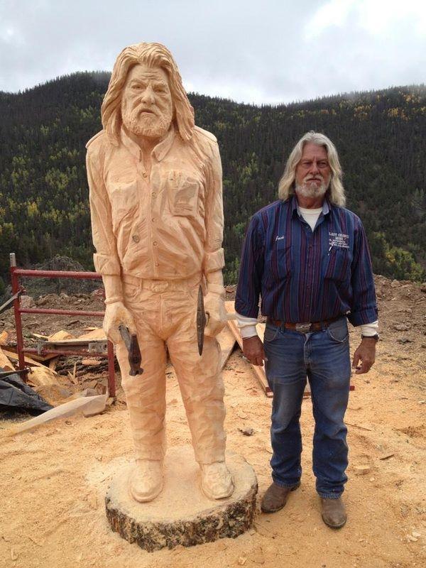 Chainsaw art portrait colorado springs co wood