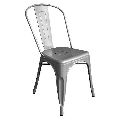 Possibility For Our New Dining Room Table...AEON Garvin Galvanized Steel  Chair (