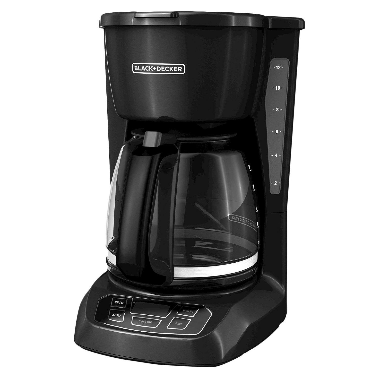 BLACK+DECKER 12 Cup Programmable Coffee Maker Black