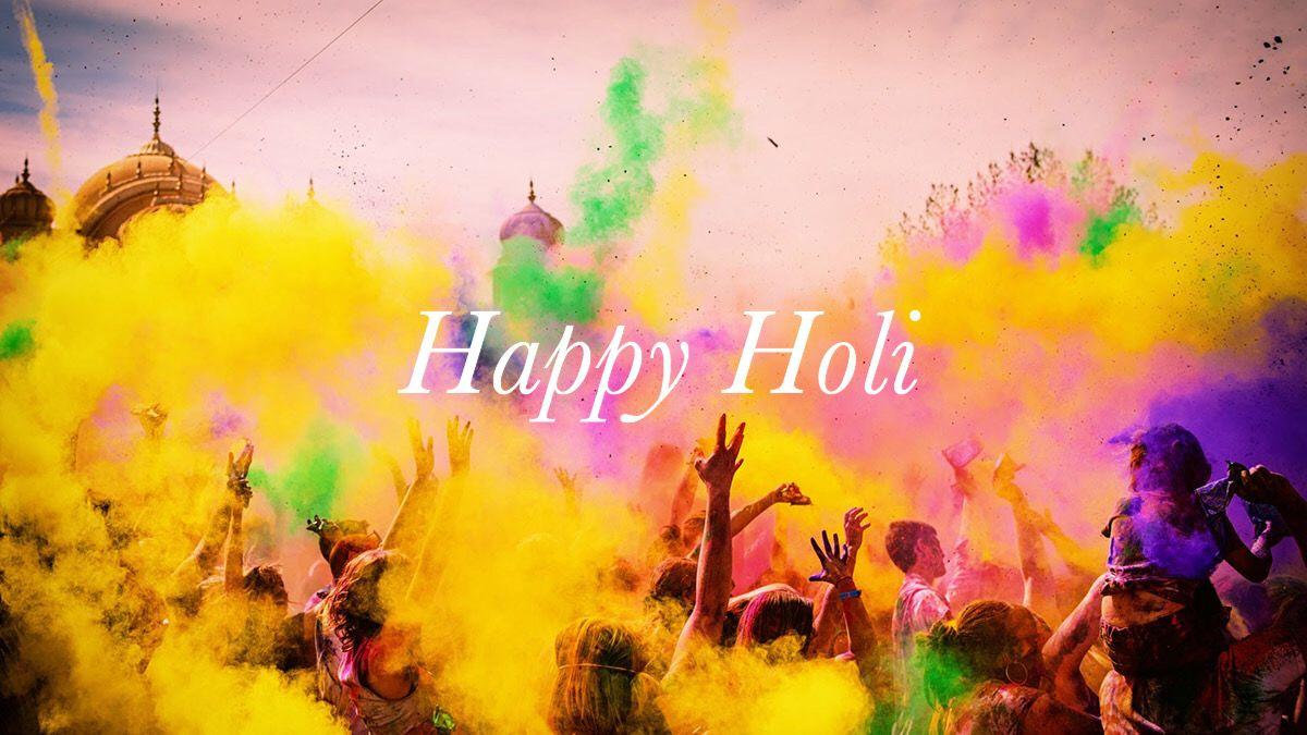 Happy Holi! What's your favorite song to listen to while playing holi?  A. Rang Baarse B. BalamPichkari C. Soni Soni D. Do Me a Favor, Let's Play Holi E. Khadke Glassy  #happyholi #holi #holihain #festivalofcolors #holifestival #songsforholi