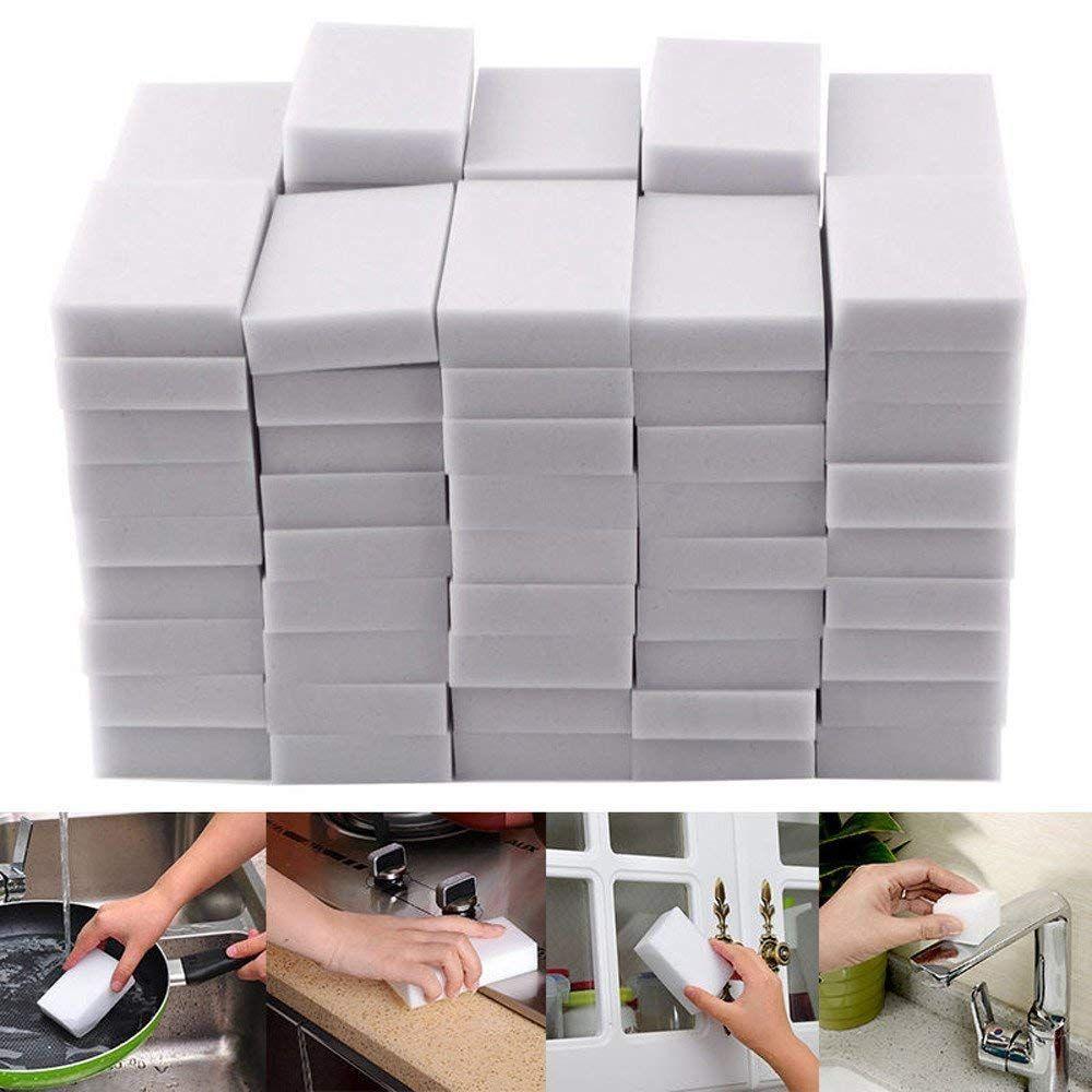 100 X Magic Sponge Eraser Cleaning Melamine Multi Functional Foam