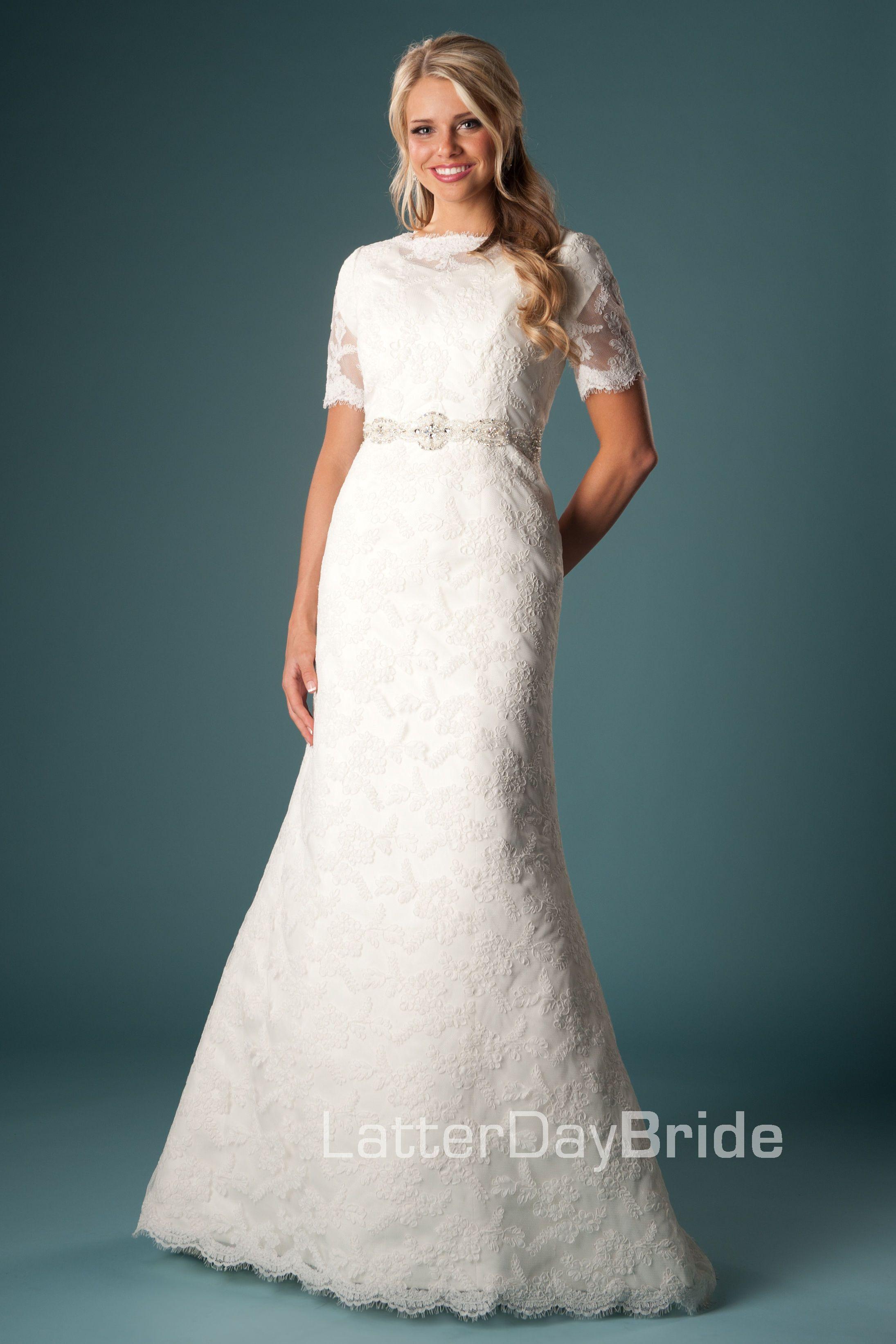 Modest Wedding Dress, Estelle | LatterDayBride & Prom | Wedding ...