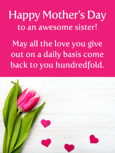 Lots Of Love Happy Mother S Day For Sister Birthday Greeting Cards By Davia Happy Mothers Birthday Greetings For Sister Happy Mother Day Quotes