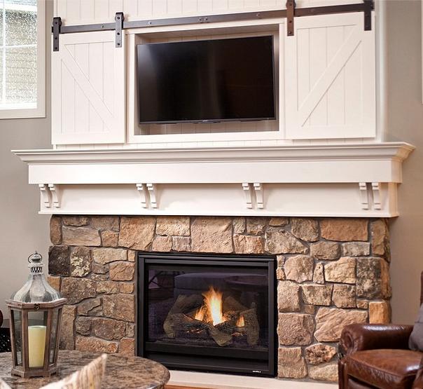Mini Barn Door Sliding Doors Over Fireplace Classy Way To Cover