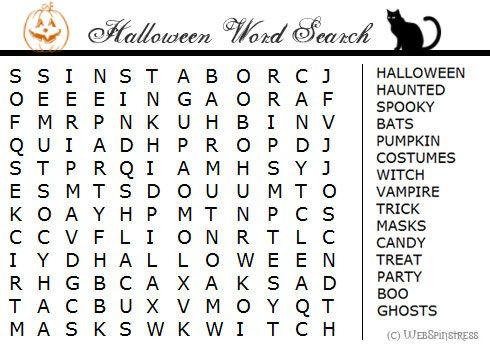 word searches for kids printable free HALLOWEN | Halloween Printable ...