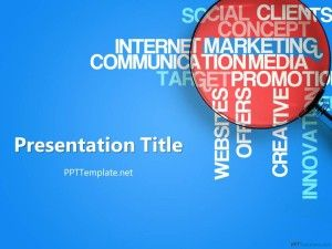 free marketing ppt template for social media powerpoint presentation