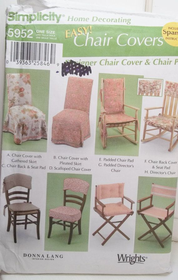 Easy Chair Cover Pattern Simplicity 5952 Home By Witsenddesign