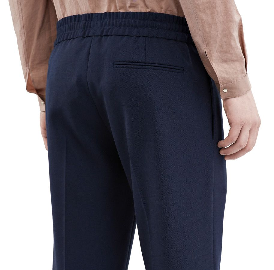 fee23ce4e801 Acne Studios Ryder L Travel Navy Travel tracksuit wool trousers ...