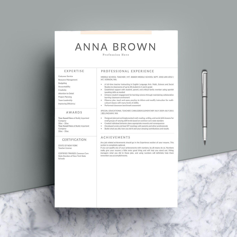 Resume Template Resume template, Resume template word