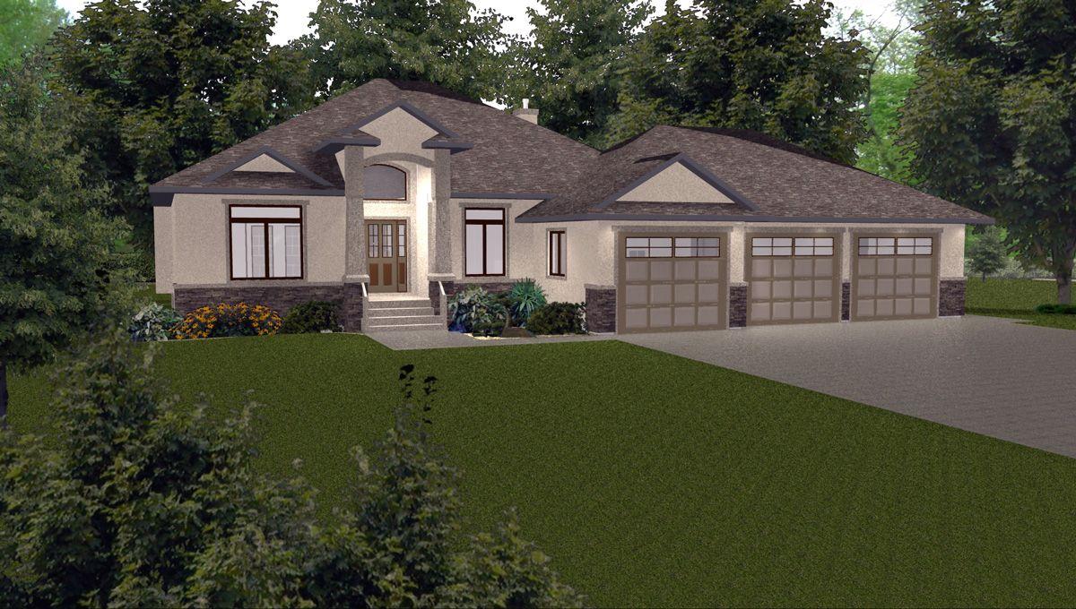 Garage Bungalow Part - 28: 1570 3 Bdr Bungalow Triple Garage Vaulted Ceiling | House Plans | Pinterest  | Bungalow