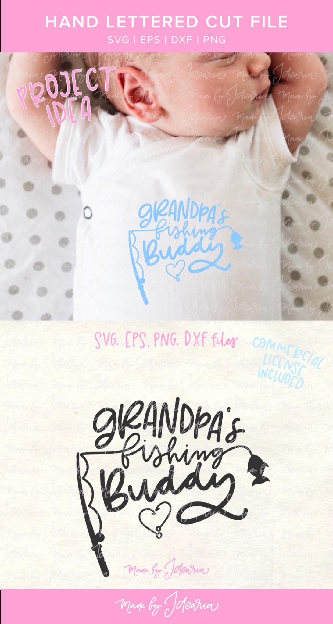 Download Grandpa S Fishing Buddy Svg File Featuring A Fishing Pole And A Fish Makes A Cute Design For Grand Monogram Fishing Shirt Fishing Shirt Ideas Monogram T Shirts