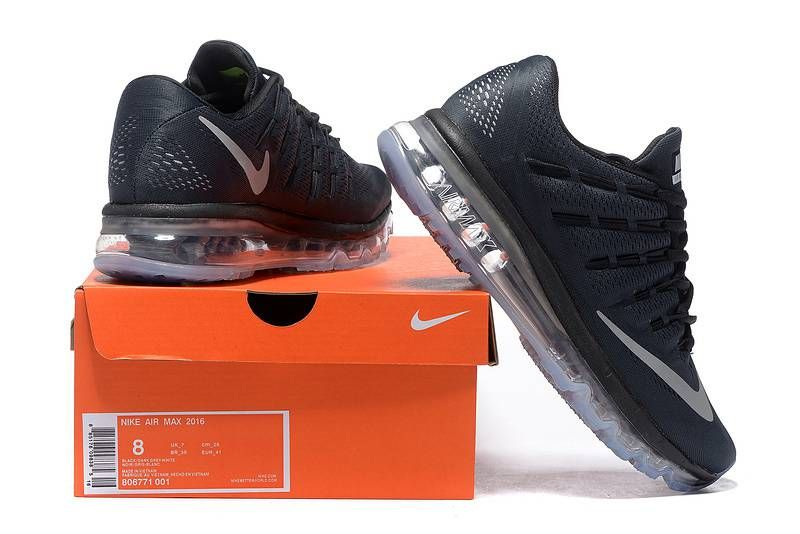 Nike Air Max 2016 Men Mesh Black Shoes