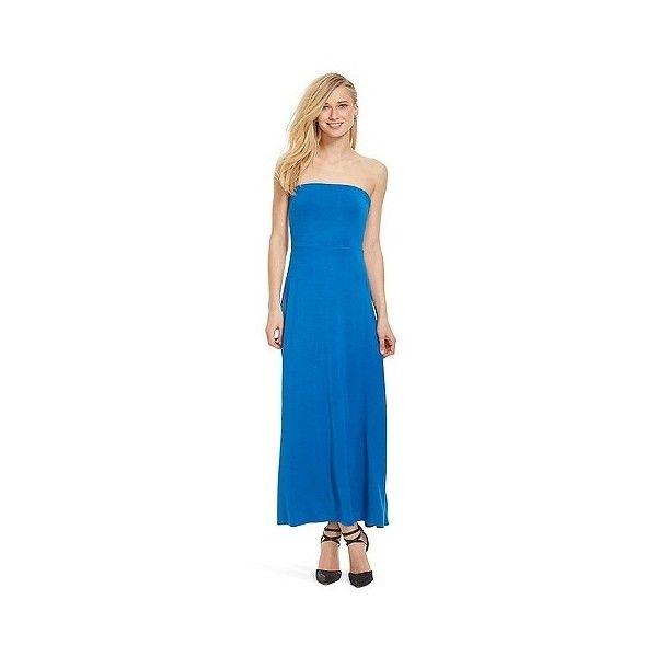 Cobalt blue maxi dress polyvore summer
