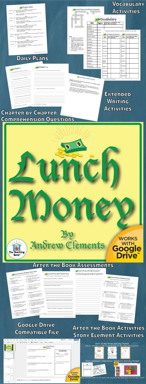 How To Eat Fried Worms, Film, Lunch Money Novel Study Is Amon Core  Standard Aligned Book Unit To Be Used With Lunch