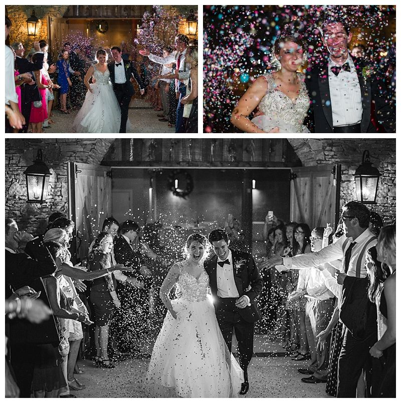 Love Be Photography Hy New Year Confetti Exit At Park Crest Event Carriage