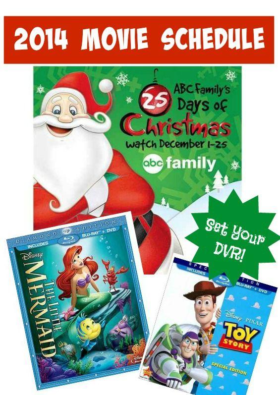 Mark Your Calendars The 2014 Abc Family 25 Days Of Christmas
