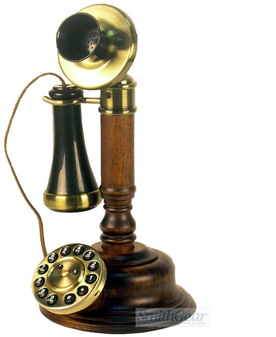1920 Wood Candlestick Telephone ReproductionNew Shop Phone????