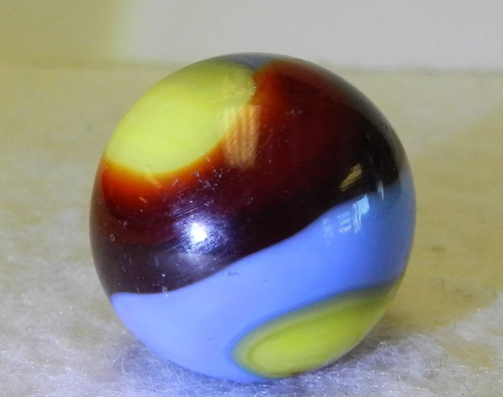 5443m Vintage Akro Agate Superman Corkscrew Marble 83 Inches Near Mint Plus Akroagate Corkscrews Marble Marble Art Glass Marbles