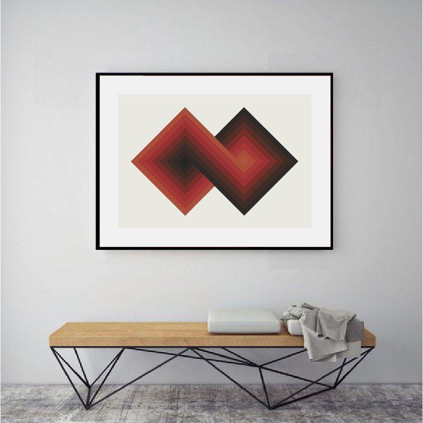 Abstract Art Affordable Art Geometric Art Print Mid Century Modern Abstract Geometric Art Print Geometric Art Prints Geometric Art