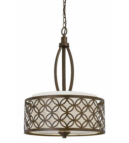 Triarch Industries Orion 3 Light Pendant In Aged Bronze With