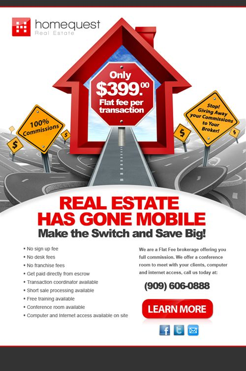 Professionally Designed Real Estate Mortgage Brokers Email Flyer
