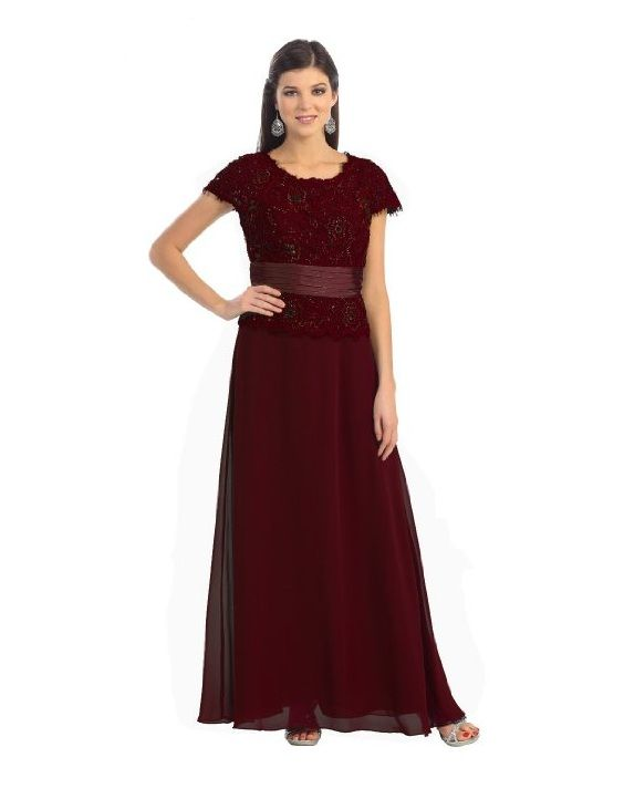 Mother Bride Gowns Plus Size | Maroon / Burgundy plus size mother of ...