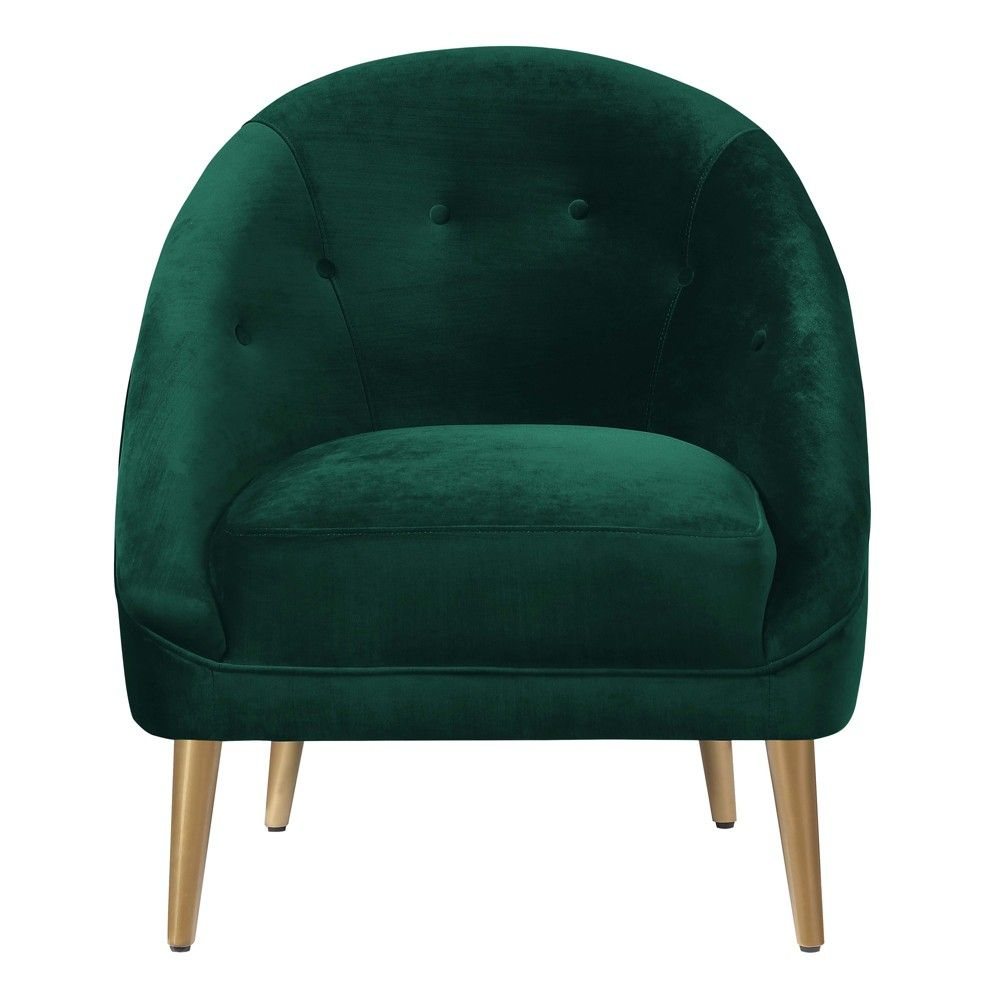 Taryn Accent Chair Dark Emerald