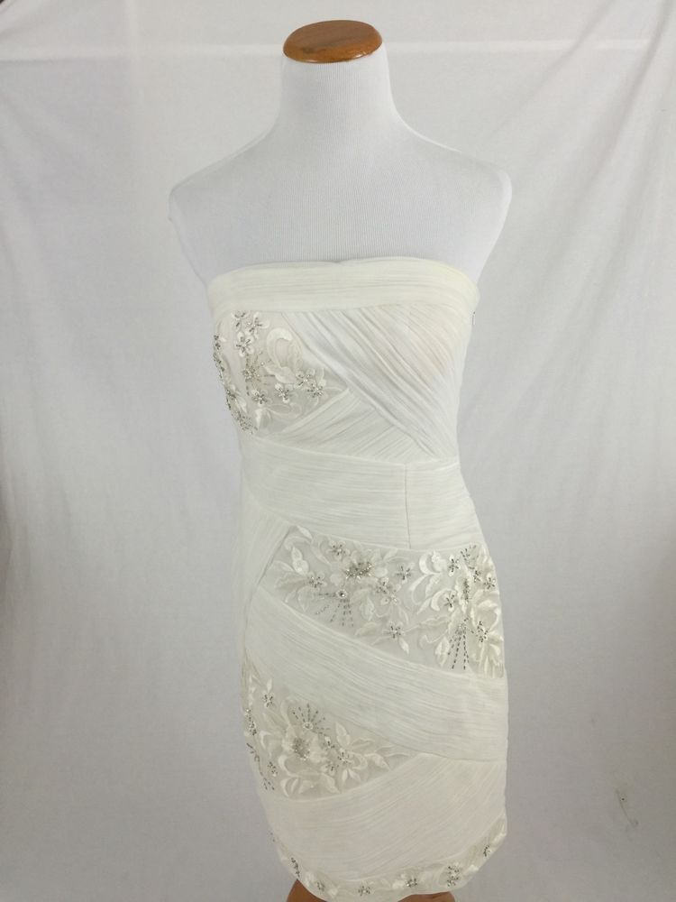 7e317df7025 SUE WONG Nocturne ivory embroidered Strapless Cocktail Evening dress Women s  6  SueWong  BallGown  Cocktail