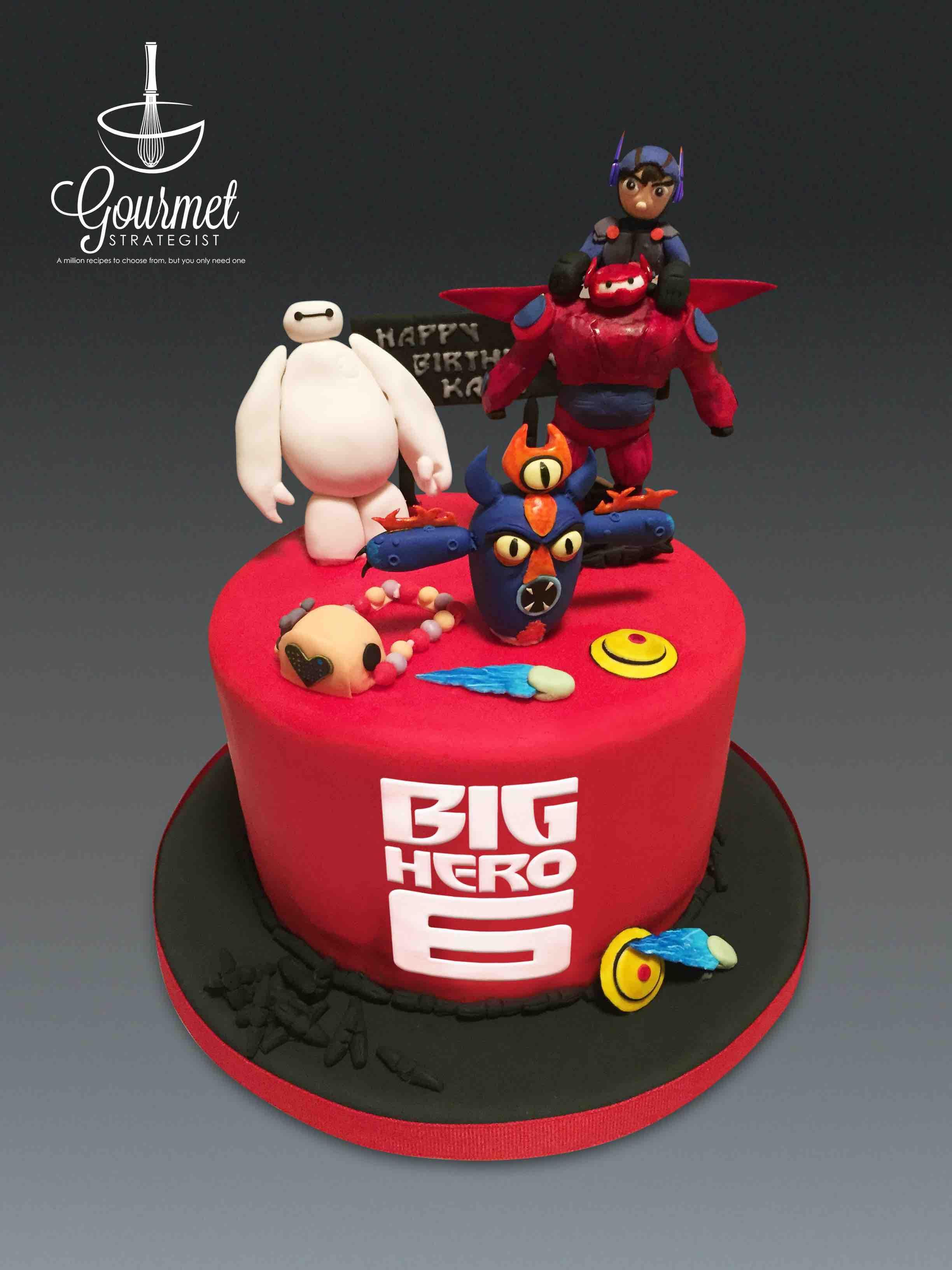 Big Hero 6 Theme Birthday Cake With Images 6th Birthday Cakes
