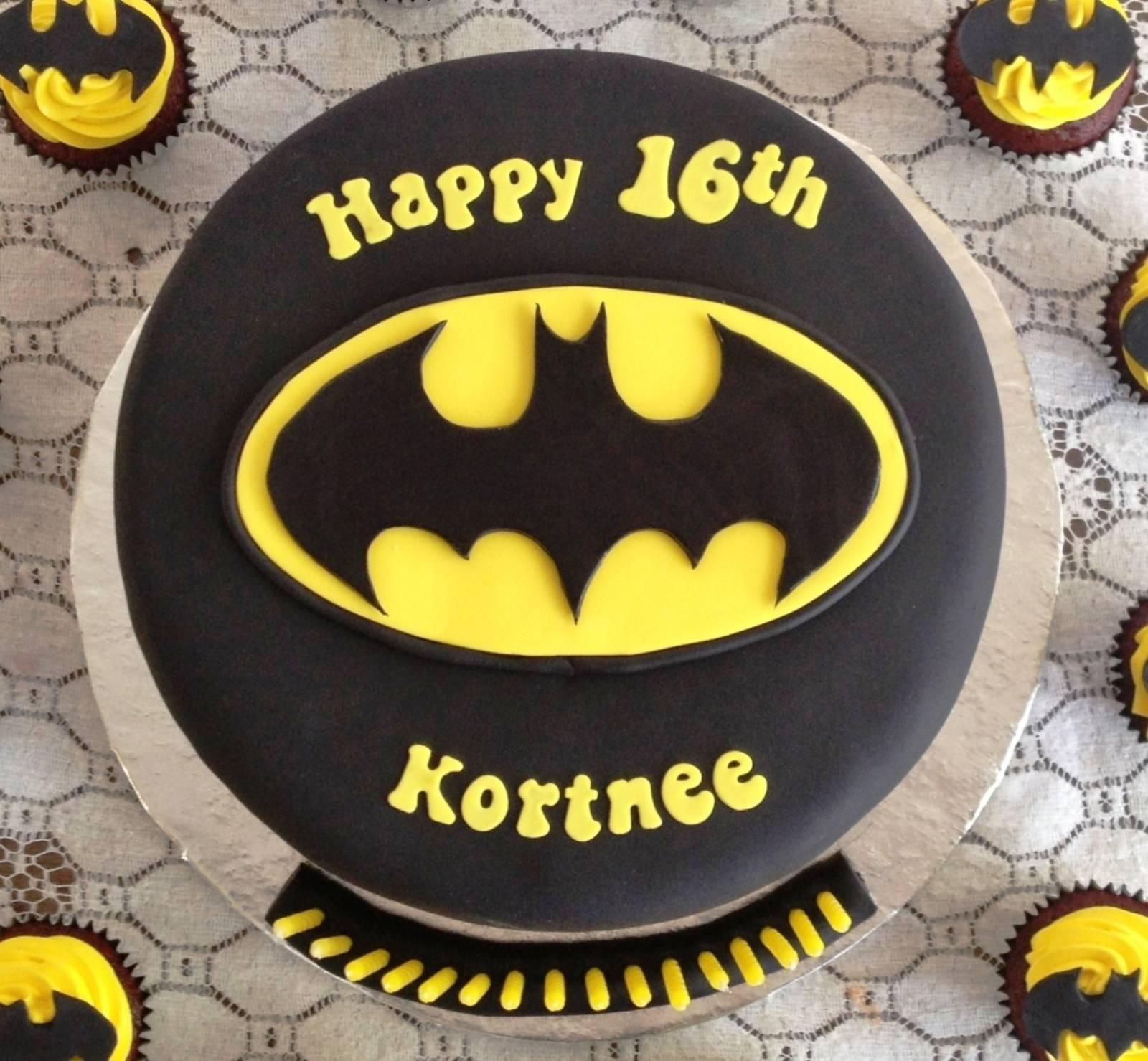 Image of Awesome Batman Birthday Cake Superhero Birthday