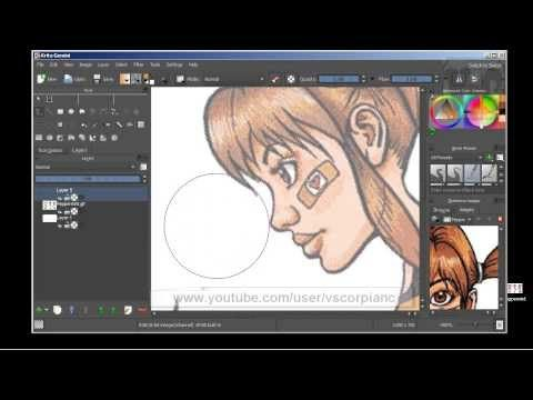 Krita Tutorial How to Import Image as Layer to Trace, Ink