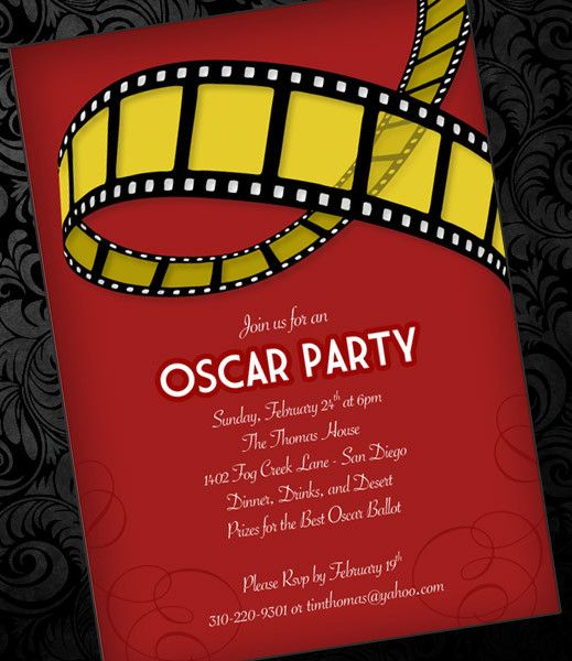DIY Oscar Party Invitation Template from #DownloadandPrint http - christmas party ticket template free