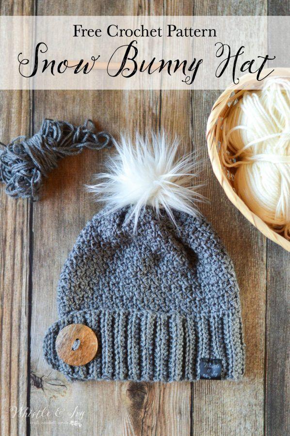 Snow Bunny Crochet Hat | Capuchas, Gorros y Tejido